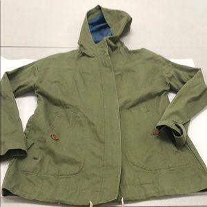 Zara army green hooded utility jacket